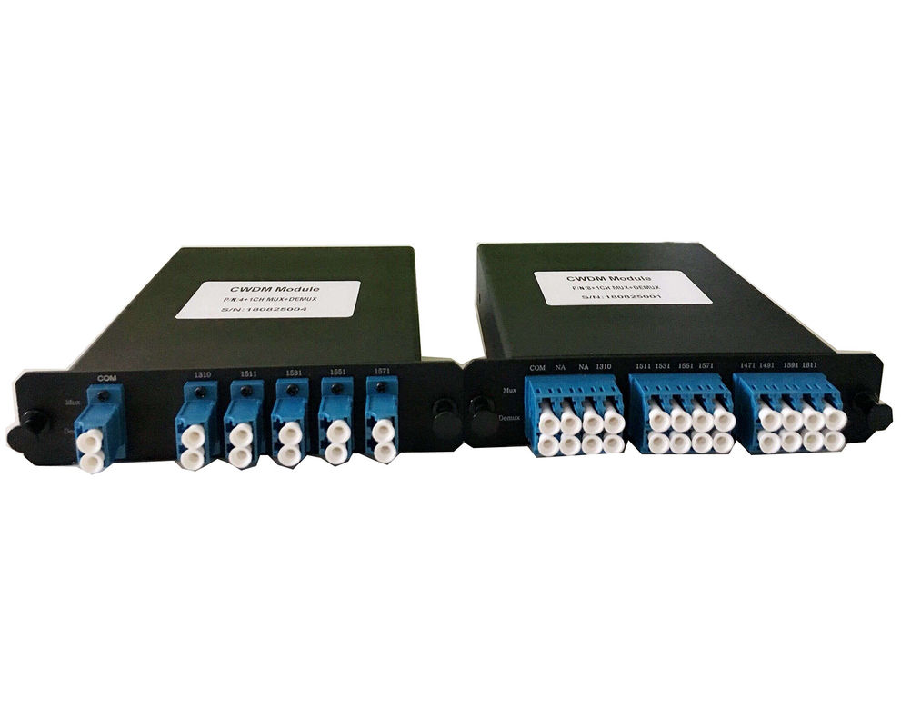 8 16 Channels CWDM Mux Demux LGX BOX Coarse Wavelength Division Multiplexer / Demultiplexer
