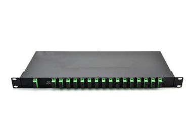 China 16 Channels DWDM Mux Demux With Monitor 1U Rack Mount For CATV System factory