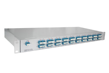 China Dual Fiber DWDM Mux Demux 1U Rack Mount 40 Channels C21-C60 , With Monitor Port factory