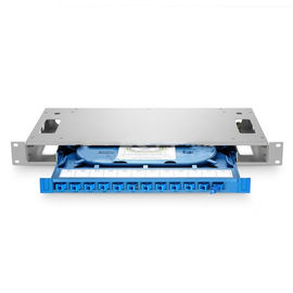 12 Fibers 19'' 1U Rack Mount Optical Distribution Frame (ODF) Unloaded