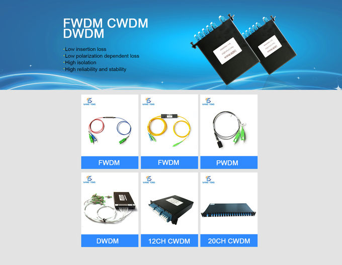 Low Insertion Loss CWDM Mux Demux Single / Dual Fiber Pigtail Fiber Optical Collimator